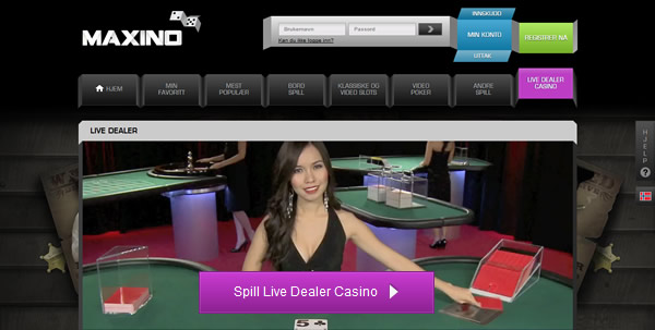 casino med live dealer